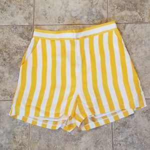NEW JUICY COUTURE BLACK LABEL SATIN STRIPED SHORTS